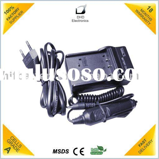 Replacement Camcorder battery charger with DC jack and cable Charger with DC jack for camera battery