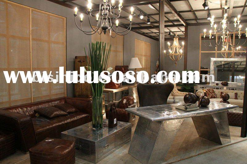 Replica furniture -Brown colour Genuine leather Living room sofa set, MOQ:1SET(B26006)