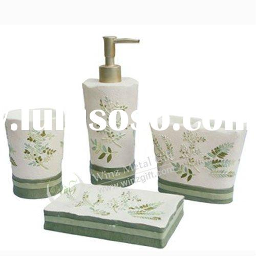 Resin 4pcs Colorful bathroom accessories set WZ-S1002A