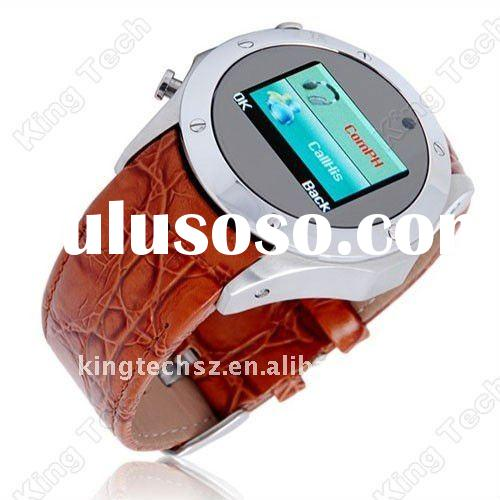 S768 Factory Direct Sale BLACK Leather Belt Touch Screen Mobile Phone Watch