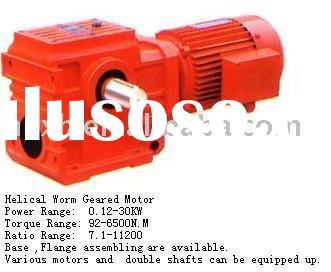 S Series Helical Worm Gear box/ reducer/ gear motor