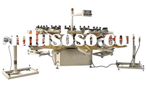 Semi automatic textile screen printing machine