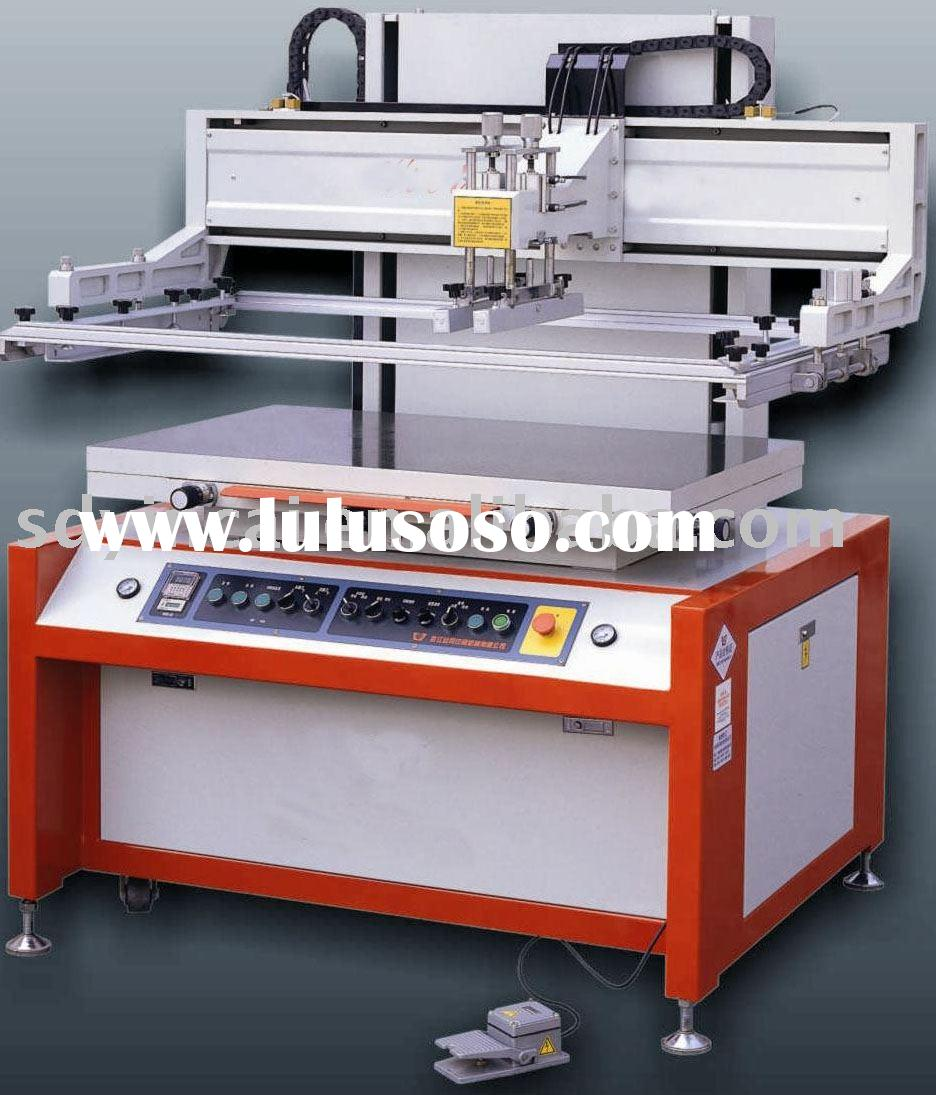 Semiautomatic glass screen printing machine - vertical running