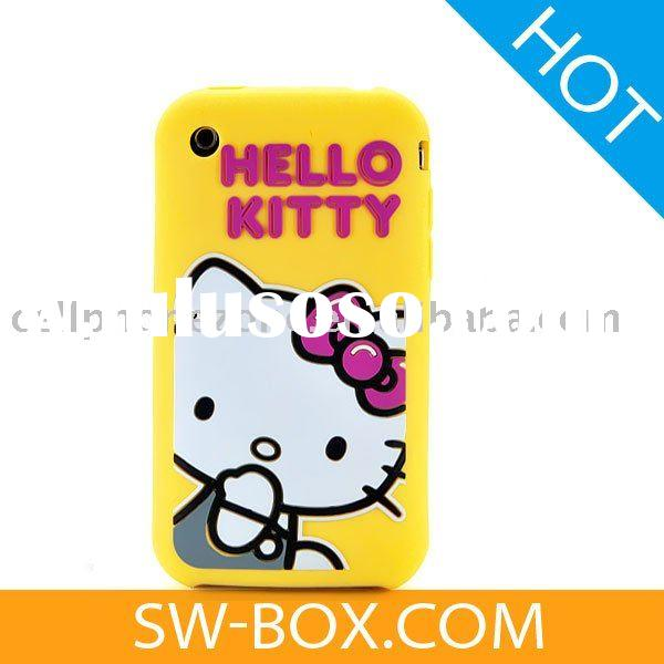 Silicone Skin Case Cover Hello Kitty Design for Apple iPhone 3GS iPhone 3G (Yellow) /for iphone3gs c
