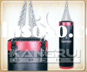 Solid artificial leather heavy bag (double)