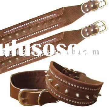 Spiked & Studded Leather Dog Collars ZQQS040