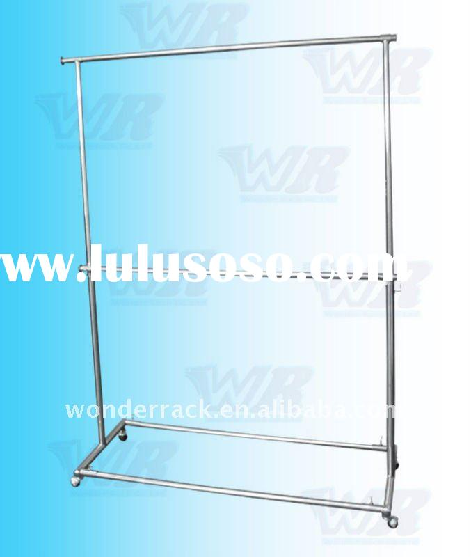Stainless Steel Double rolling Hang-rail Garment Rack