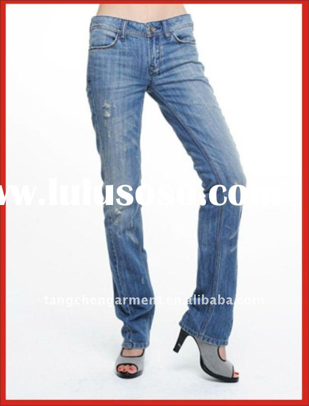 Stylish 98% cotton 2% spandex jeans for women