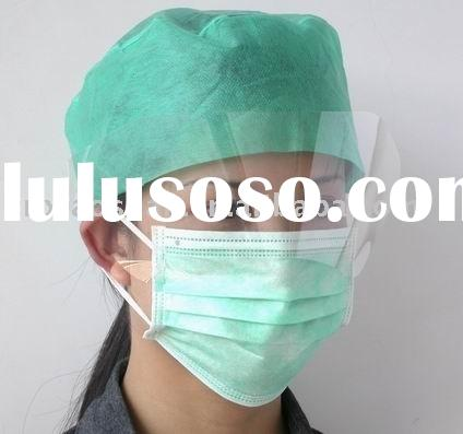 Surgical Face Mask with splash visor,mask with anti-fog face shield