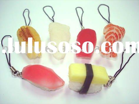 Sushi mobile strap/ Sushi keychain/ food gifts/ food accessories/ food keychain/food mobile phone ac