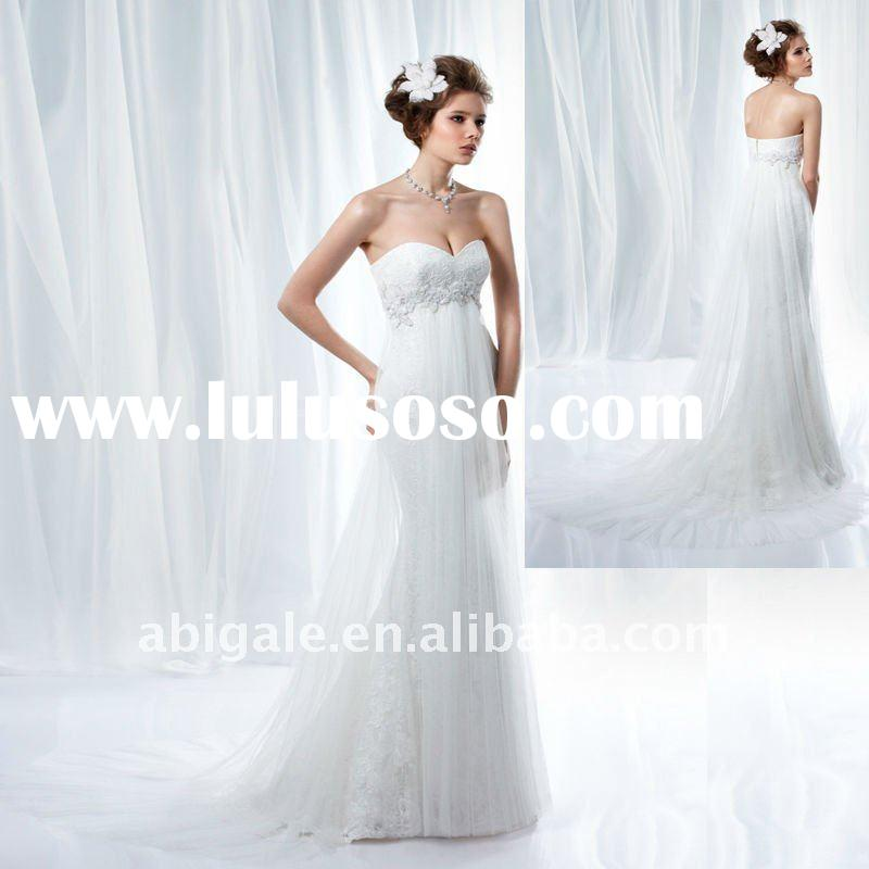 Sweetheart Lace Embroidered Empire Waist Wedding Dress 2012