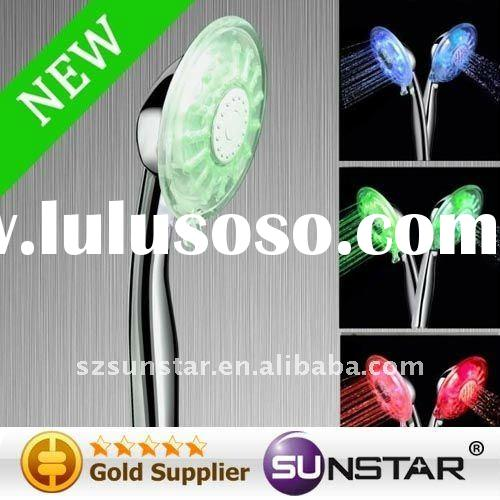 Temperature detectable RC-9805 LED shower overhead