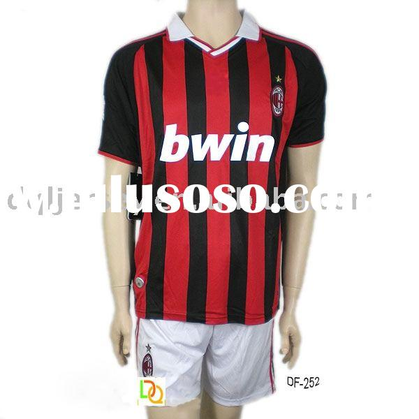 The latest 09-10 AC Milan home football jersey