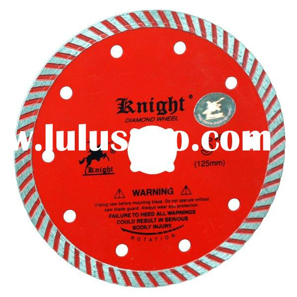 Turbo continuous rim diamond saw blade ,diamond turbo cutting wheel,125*22/20/16*1.8