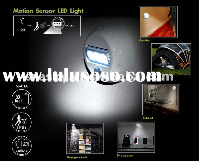 Unique design PIR motion sensor LED closet and cabinet light powered by AAA battery