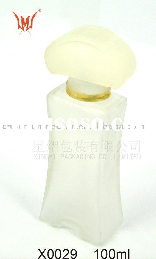 Unusual Frosted Glass Perfume Bottles With Mushroom Cap