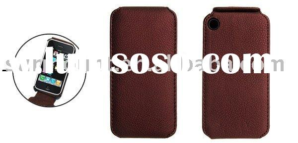 V Vertical Flip Leather Case Cover for Apple iPhone 3G