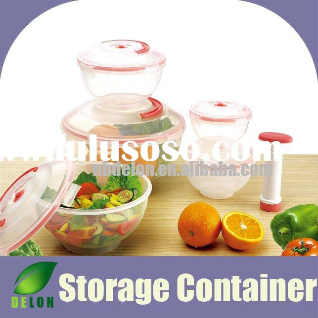 Vacuum food plastic storage container