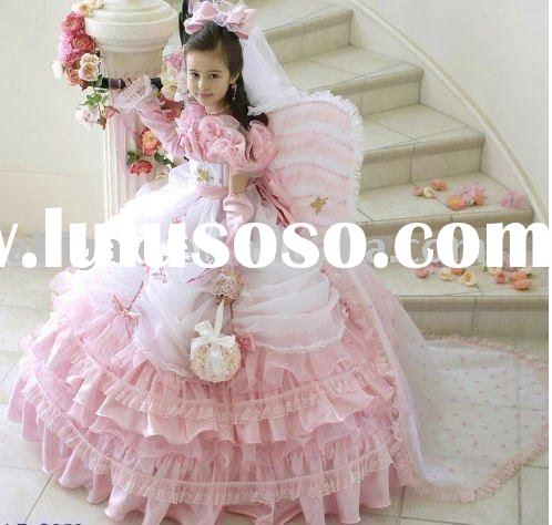 Wholesale Ball Gown Organza Beautiful Flower Girl Dress