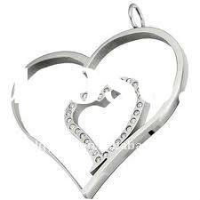 (WS1300)2011 Popular 316L Stainless steel heart pendant