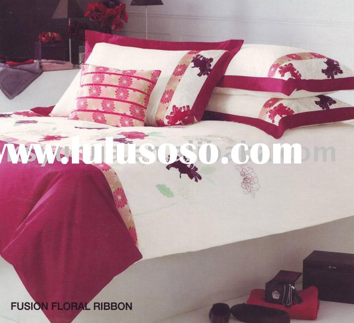adult embroidery bedding set - YH6854 fushion floral-duvet covers cover bed
