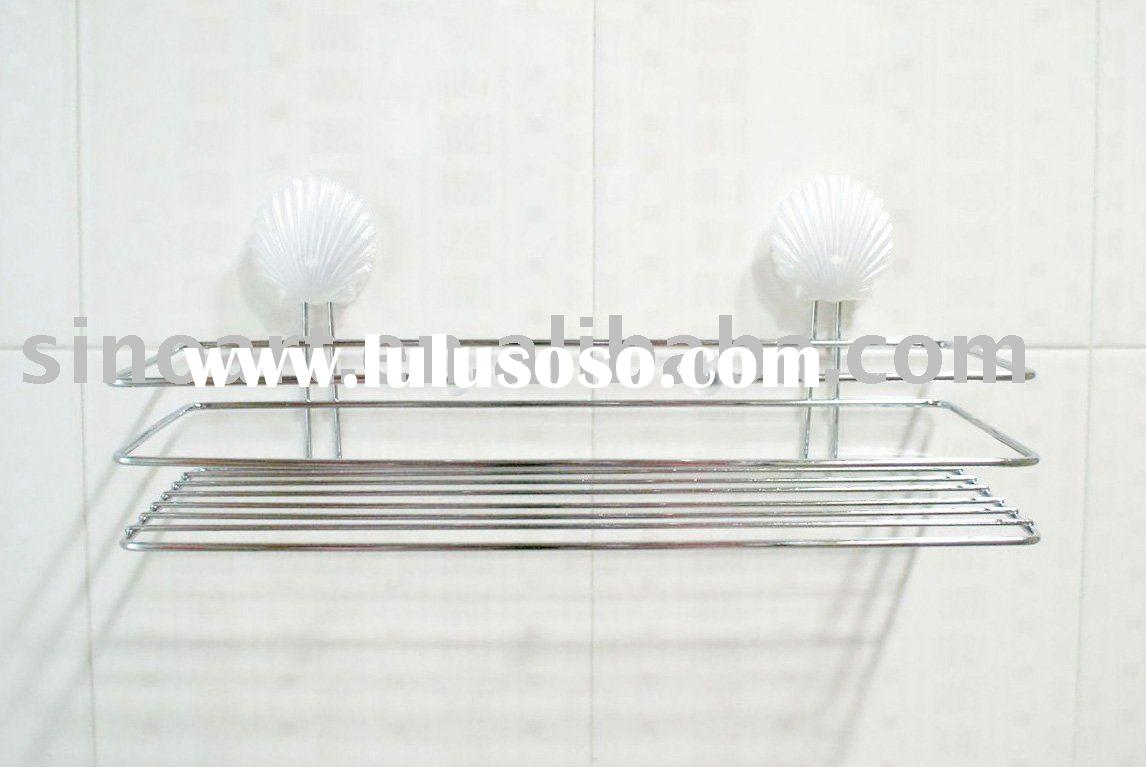 bathroom accessory rack with suction cup