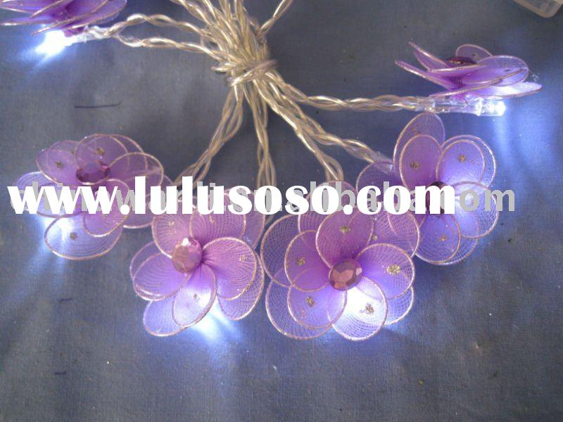 battery operated LED flower christmas decoration light