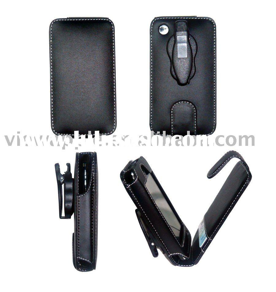 belt clip Flip leather case for iPhone 3g/3gs