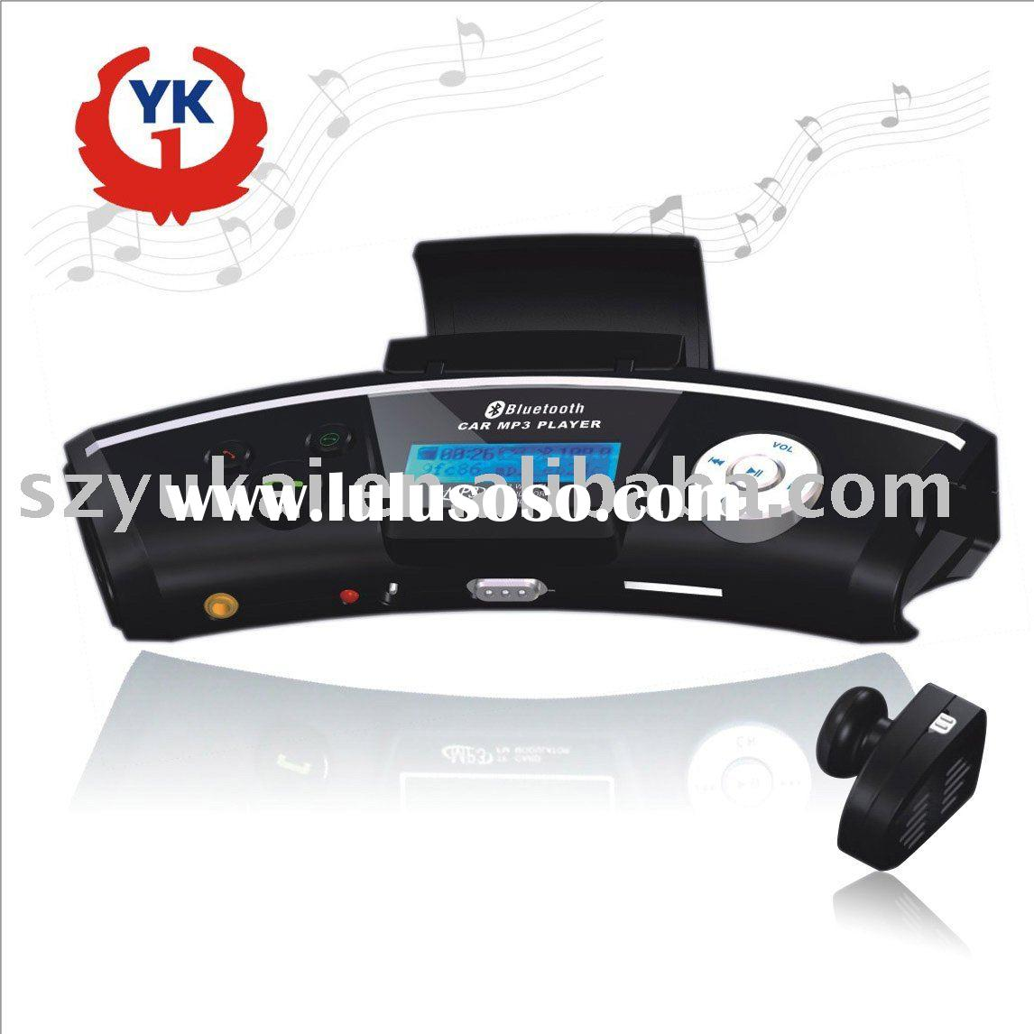 bluetooth hands free car kit built-in speaker and recharge battery YK-168D-10