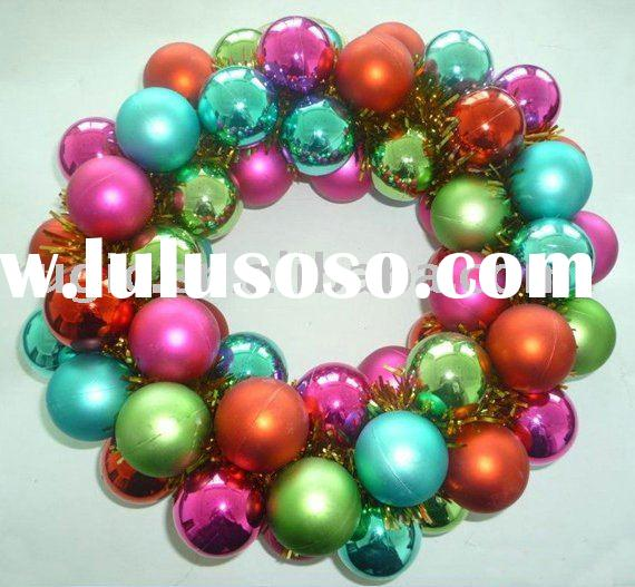 bright colour plastic Christmas tree hanging ball ornament/ plastic decorative Christmas garland