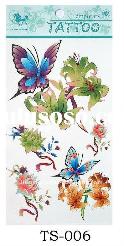 butterfly flower adult body tattoo stickers
