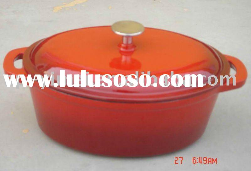 cast iron soup tureen/enamel cookware set