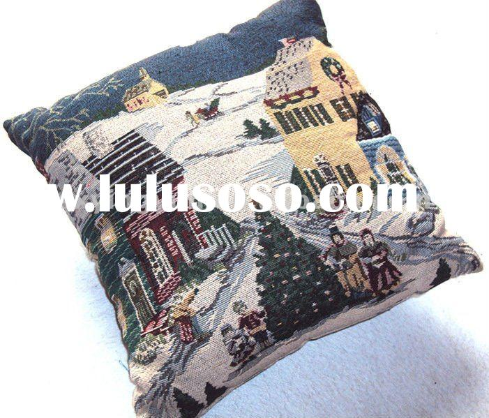 christmas jacquard cushion cover,home textiles,pillow,chair cushion