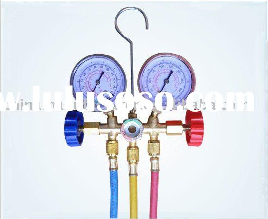 cool gas meter / refrigeration tool / double valve cool gas meter