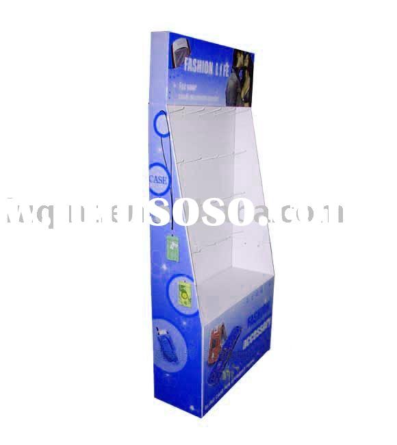 corrugated display rack,hanging display,paper Display,pop display stand,floor display,cosmetic displ