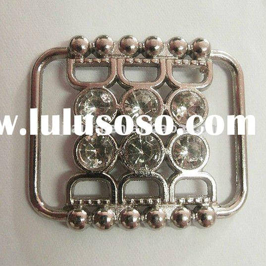 cusomized fashion silver rhinestones metal garment / belt buckle