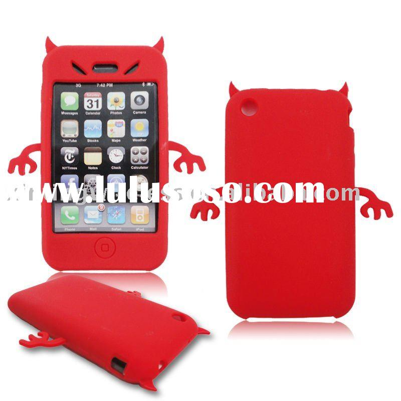 cute devil silicone gel case for iphone 3g