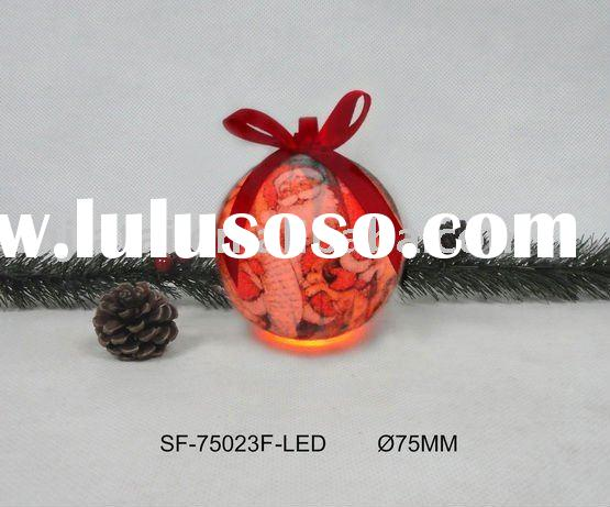 decorate christmas ball ornaments with LED light