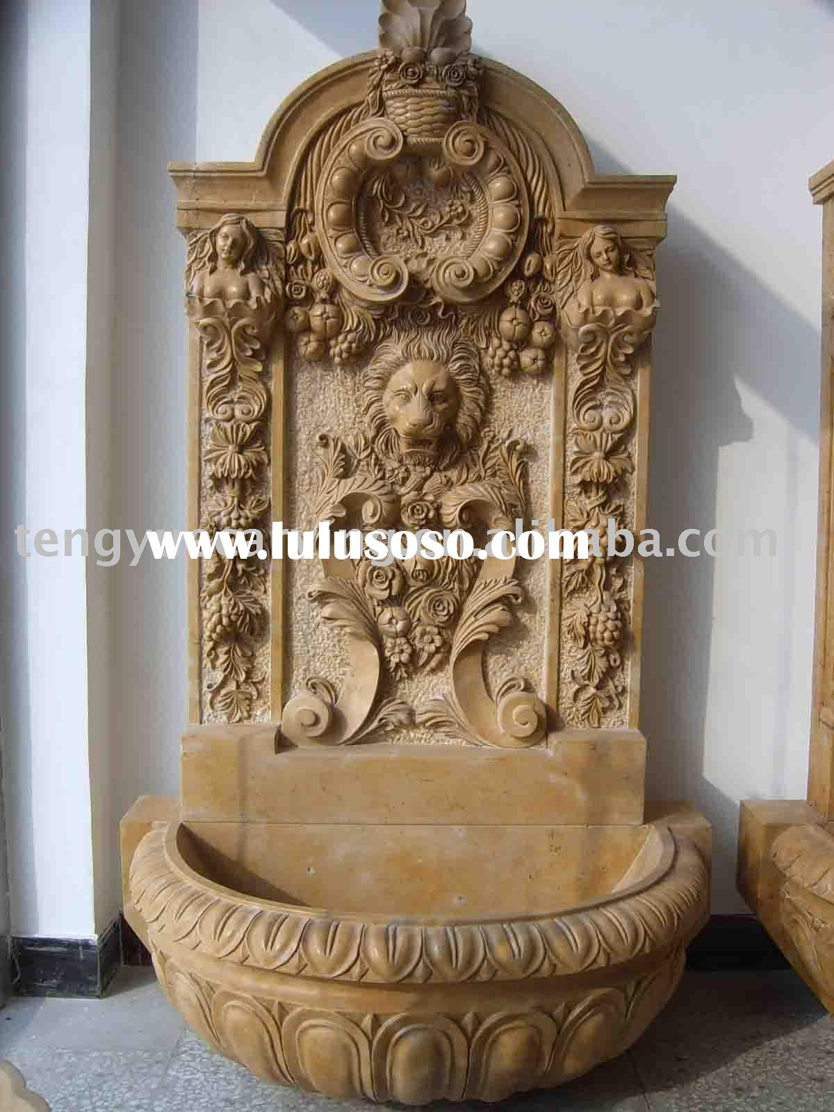 decorative wall fountains with lion head
