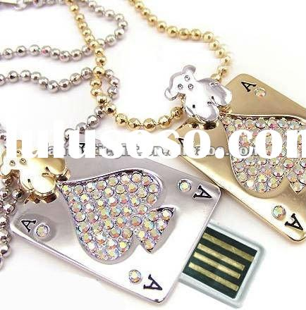 diamond necklace style poker jewelry USB gifts and USB flash drives