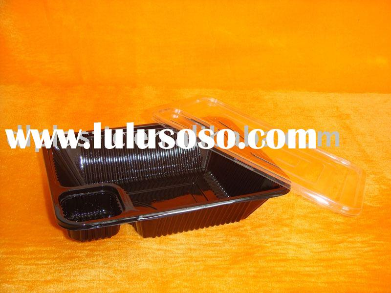 disposable plastic food container,plastic sushi box