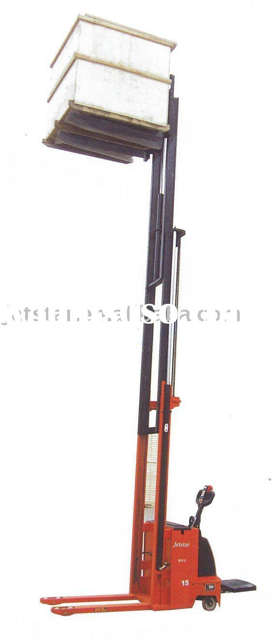 electric stacker   electric lift truck   pallet truck   triple mast