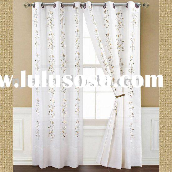 Embroidered Sheer Panel Curtains - Best Curtains 2017