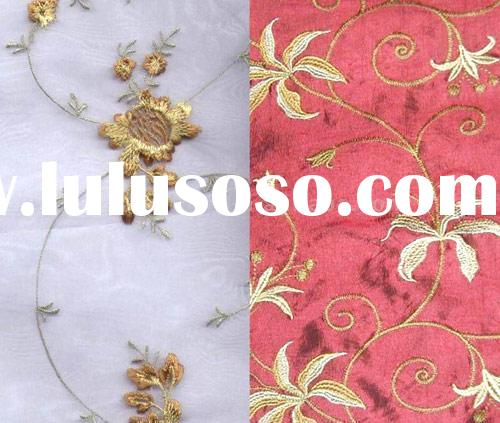 embroidered silk fabric