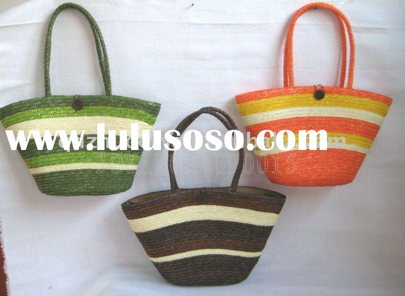 environment-friendly wheat straw beach bag