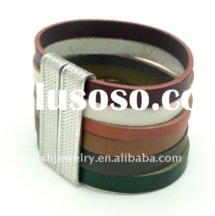 fashion alloy leather Men's bracelet jewelry