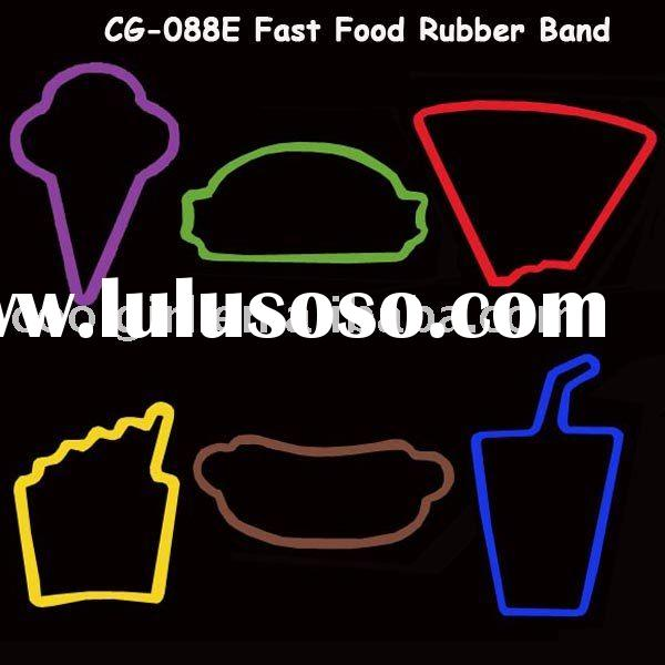 fashionable color shaped 100% silicone rubber band
