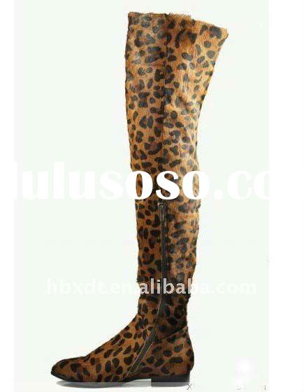 horsehair thigh high boots for ladies! 2011 latest style boots