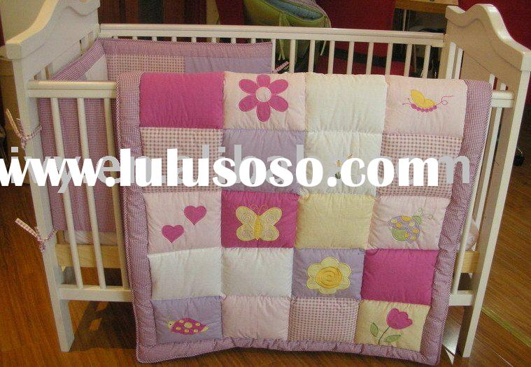 patchwork baby bedding 1