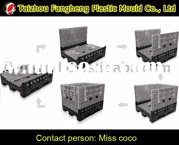 foldable pallet container mould plastic storage container mold